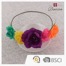 Quality Guaranteed Best Choice! Full Color Wedding Rustic Crown Ruffle Flower Hair Band Craft