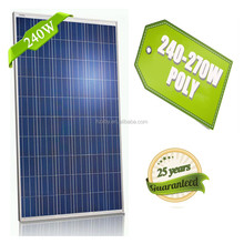 High Quality Poly Crystalline 240 Watt Solar Panel in india from china