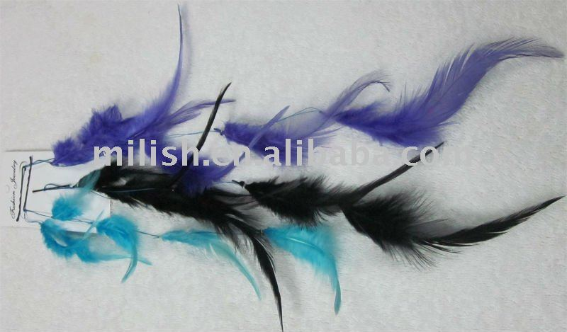 Synthetic Hair Feather hair extension Wig FHE-0011