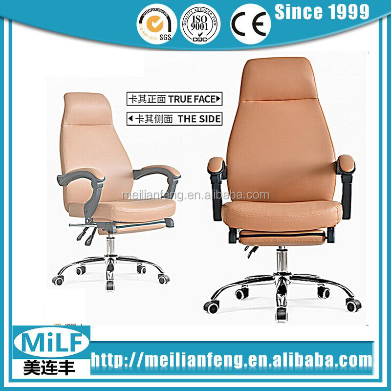 Egonomical chairs swivel ergonomic adjustable emes office brown leather recliner chair with footrest