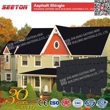 Onyx Black villa exterior wall round fishscale asphalt shingle color roof philippines