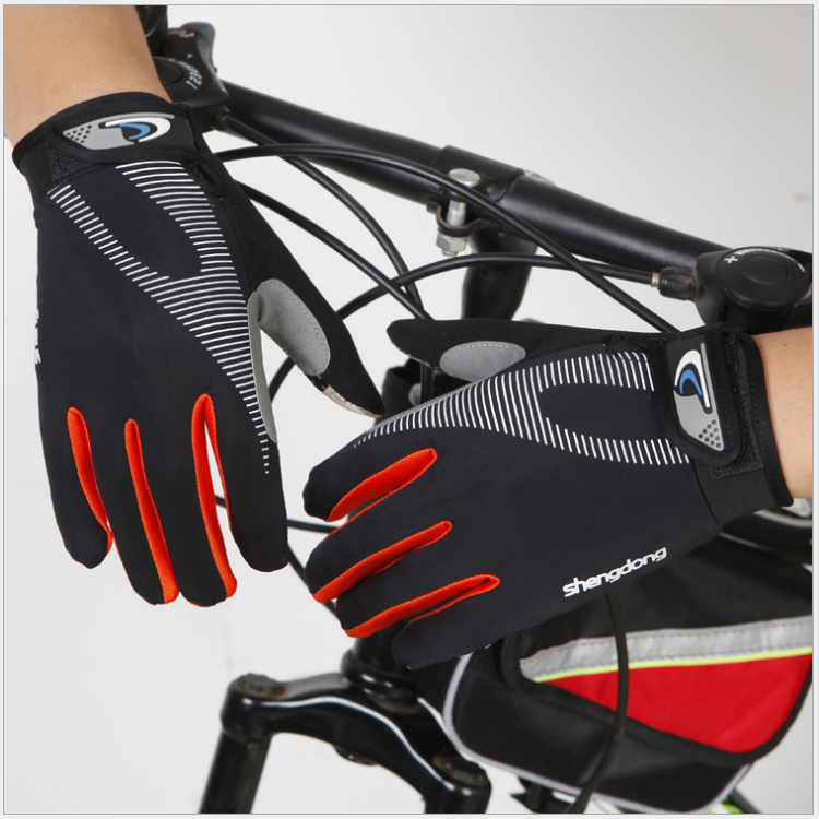 Custom Made Fitness Thin Sport Gloves WiFull Finger Motorcycle Bike Glove Cycling Gloves