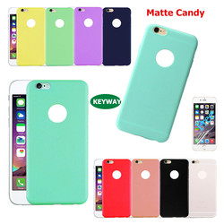 Matte Candy TPU Silicone Rubber Slim Back Cover Skin for iPhone 5 5S 6 6S 7 7s Plus Ultra Thin Soft Frosted Phone TPU Case