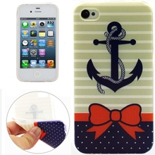 Anchor Pattern TPU Protective Case for iPhone 4 / 4S