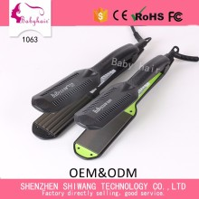 China Ionic Straightener Style Manufacturer Professional Hair Straightener with PTC Heater
