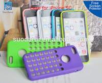 Mix Color, Mesh Dot Hole Gel TPU Soft Case for iPhone 5C