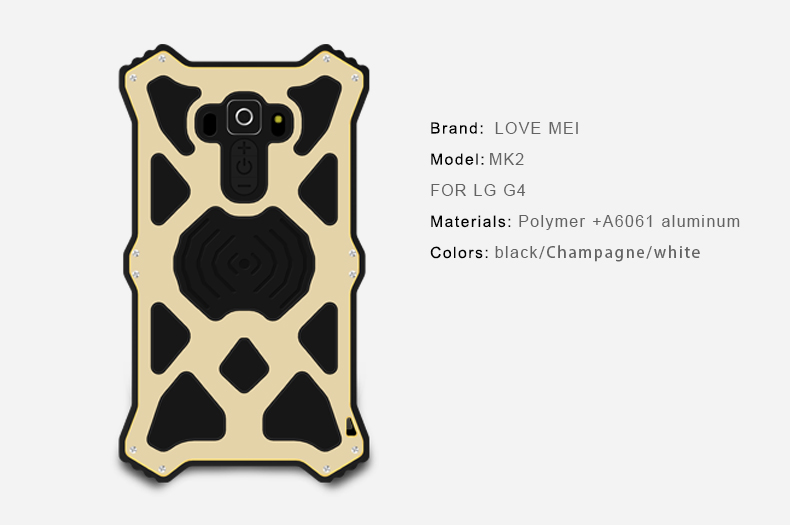 Love Mei MK for LG G4 buttons shake silicone shockproof Cover Protective Mobile Phone case bulk buy from china