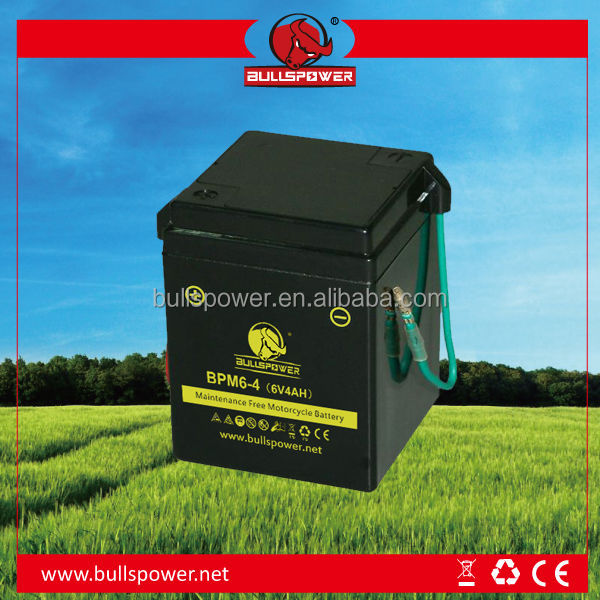 ytr4a-bs mf 12v 4ah green motorcycle start dry battery
