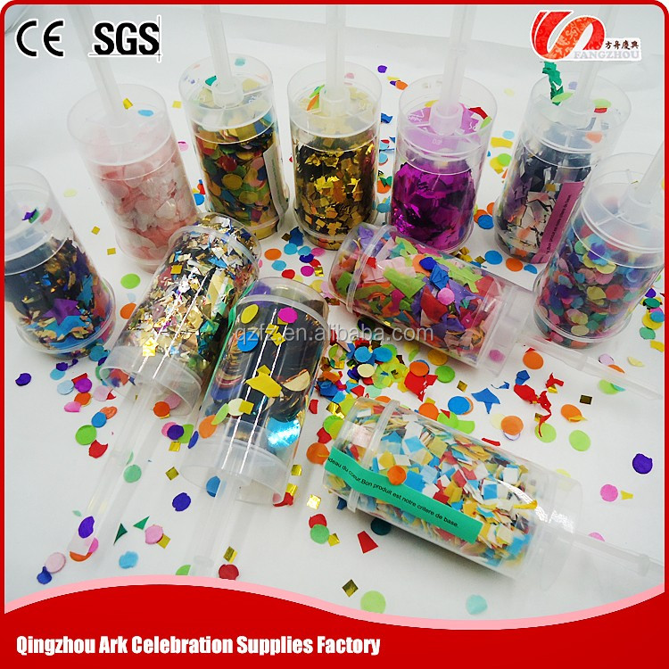 Excellent quality lovely wedding party diy push pop confetti