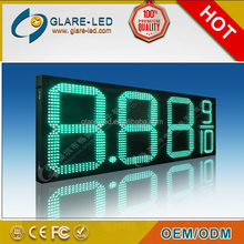 Outdoor petrol station totem display LED price board pylon signs