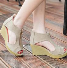 zm53915a Fashionable Trendy Style Wedges Shoes Ladies Sandals