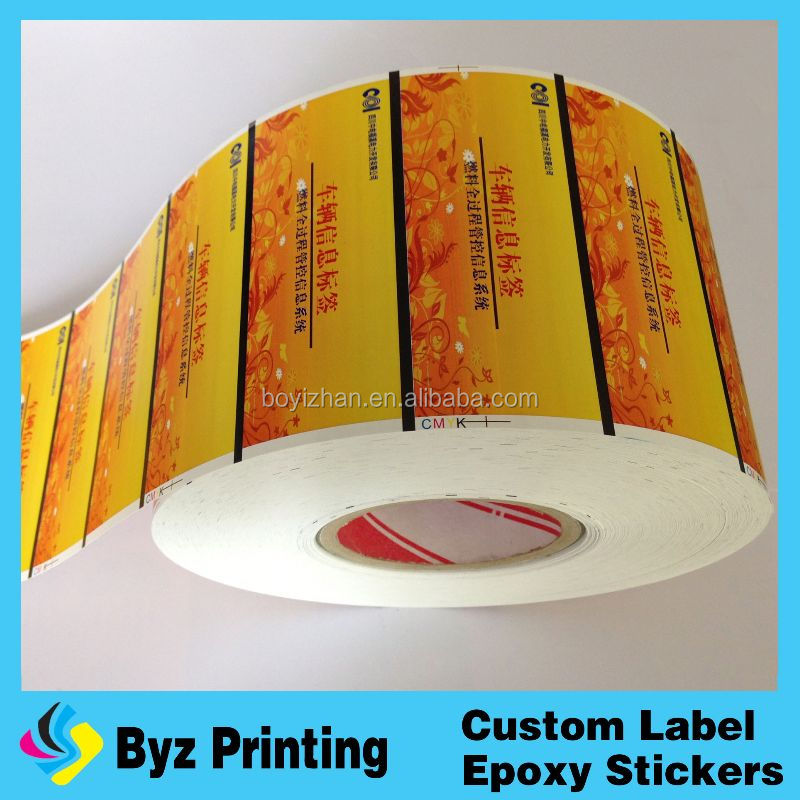 2015 Self Adhesive Glossy Label Sticker printing Paper in sheet/roll for free sample
