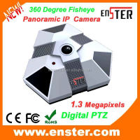 New!Hot!!Best!!!HD 1.3 Megapixels PTZ Panorama Fisheye IP Camera 360 Degree Panoramic IP Camera with POE