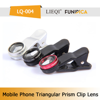 Hot Universal Clip Triangular Prism Phone Lens LIEQI LQ-004 Zoom Lens for Mobile Phone Lens for Nikon/iphone