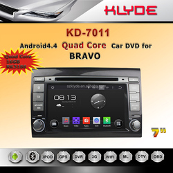 Android 5.1system car dvd player 2 din autoradio for fiat bravo 2007 - 2012 Parrot bluetooth Optional