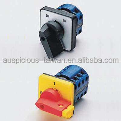 20A ON-OFF Rotary Switch, Cam Switch 45/60/90 Deg Switching (A201~A206)