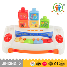shantou building musical early learning educational toy with gorgeous light