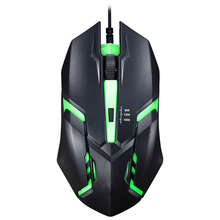 LED Breathing Light 3 Buttons Adjustable Optical Noiseless USB Wired Computer Gaming Mouse