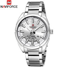 NAVIFORCE Brand 9038 Men Quartz Watches Luxury Sport Waterproof Watches Men's Stainless Steel Wristwatches