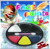 best 6 neon colors face body paint set palette sports fans football cheap face paint