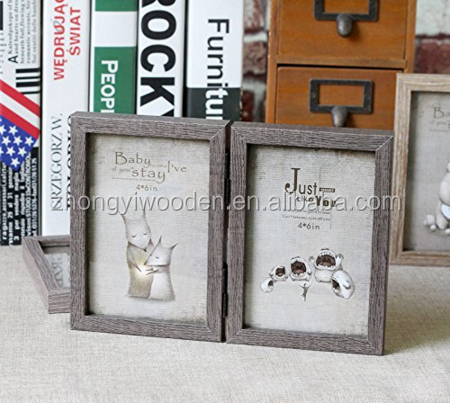 wholesale factory FSC&BSCI family display Wooden Double Multi Photograph Frame Baby Gift