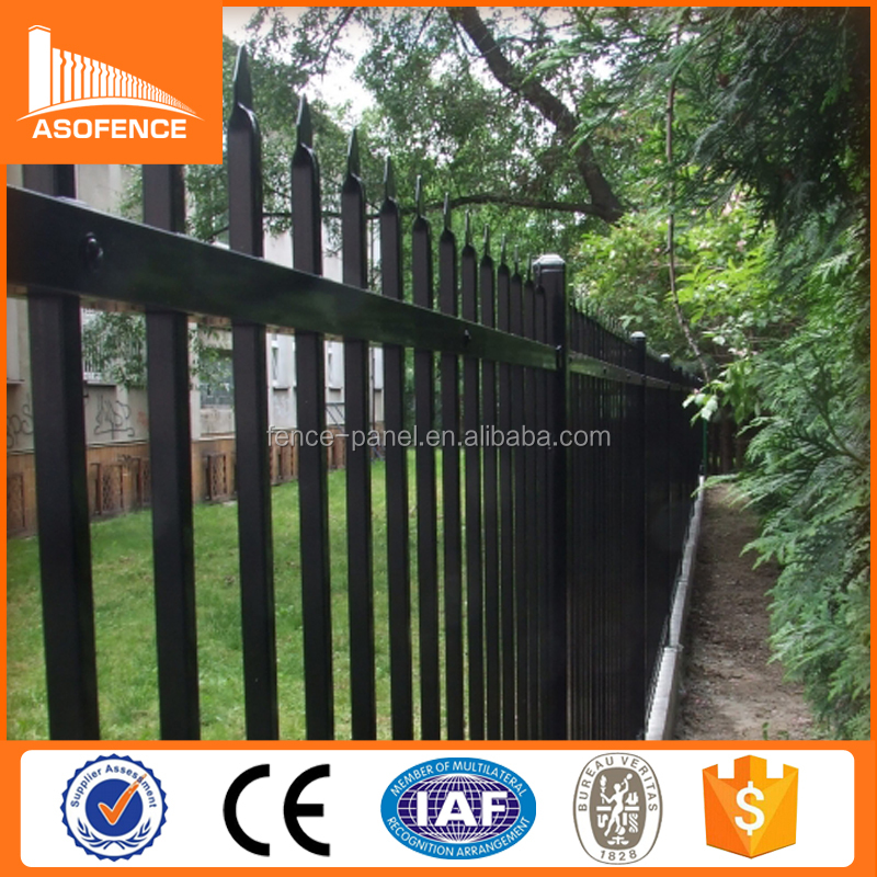 Metal commercial Wrought Iron Fence And Gates / Spear Top Tubular Wrought Iron Fence And Gates