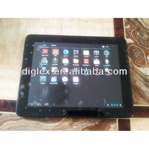 "9.7"" Tablet pc input Allwinner A10 16GB 1.2GHZ Metal Cover,mid tab pc"