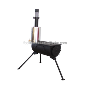 portable cold rolled steel plate wood burning stove