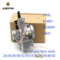 ZSDTRP Motorcycle keihin koso pwk carburetor Carburador 28 30 32 34 mm with power jet fit on racing motor