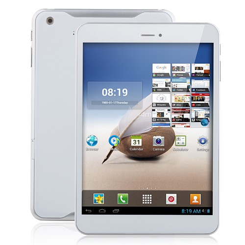 Ampe A80 3G Quad Core Qualcomm MSM8625 Tablet PC 7.85 Inch Android 4.1 IPS Screen Monster Phone 16GB White