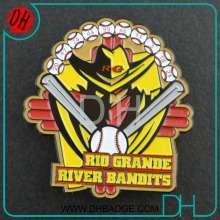 Custom enamel sports Rio grande baseball club trading lapel pin emblem