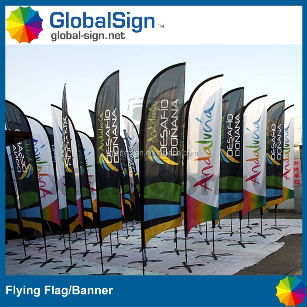 Outdoor sale beach feather flying banner