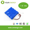 Rechargeable Cell 18650 7.4V 4000mAh cheap lifepo4 batteries 4AH Packs for Electric Vehicles