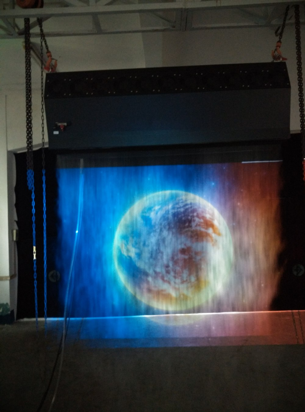 New fog screen machine electric projector screen