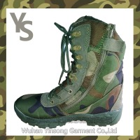 [Wuhan YinSong]discount comfortable hot sale factory prices green military boots the shoe