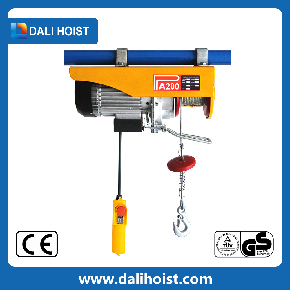Electric Cable Hoist 110v : Electric wire rope winch pa series small hoist