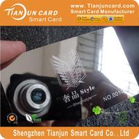 Gold or silver elegant designed metal visiting card
