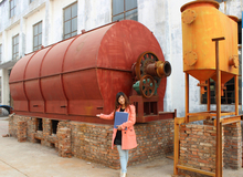 2014 hot sale waste tyre plastic rubber pyrolysis plant to oil