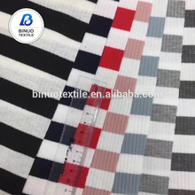 2018 newest design good quality soft rib 100 cotton knitted fabric
