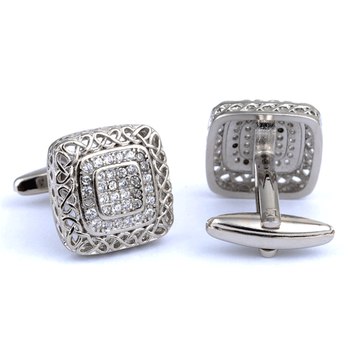 Wholesale metal silver jewelry cuff links