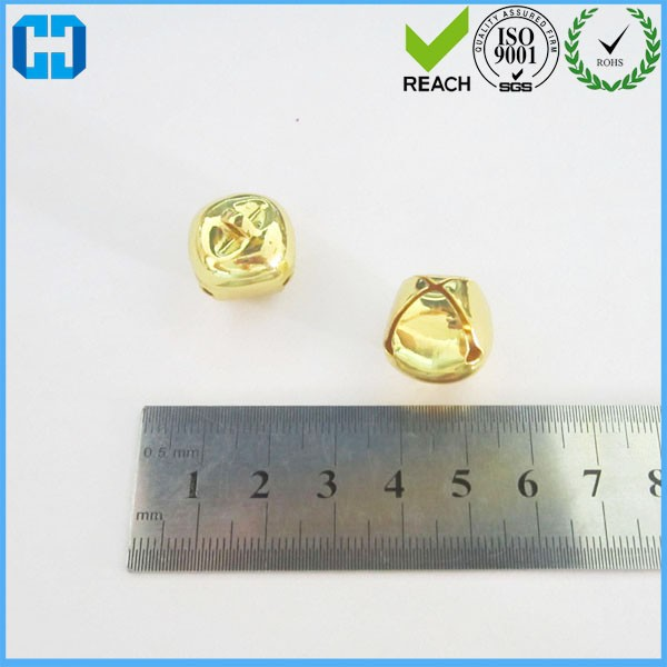 12 MM Shinny Gold Metal Jingle Bells For Christmas Decoration