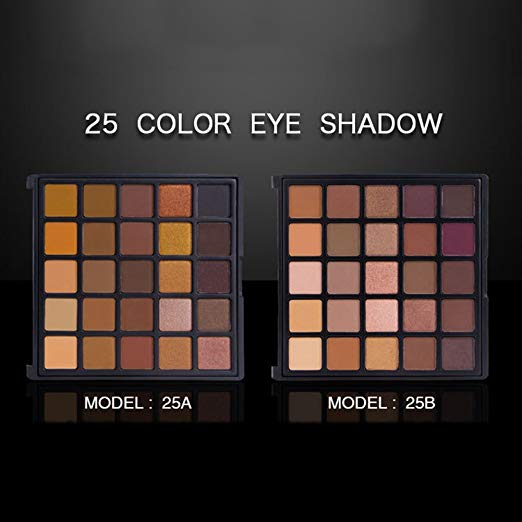 Matte and Shimmer Eyeshadow Palette  25 Color Eye Shadows Glitter Waterproof  High Pigment Powder Pallet Customized Logo