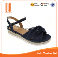 New Arrive Resonable Price Hemp Rope TPR Sole Ladies Fashion Model Sandal 2016