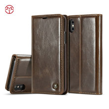 CaseMe manufacturer wholesale custom design wallet leather cell phone case for iphone 8 X