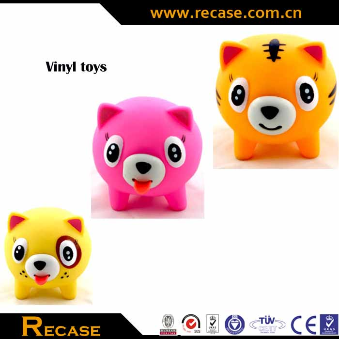pet rubber toys plastic or PVC small soft latex wholesale vinyl toys