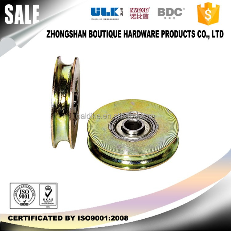 brass plating bearing 2z heavy duty 608 bearing U v groove bearing chrome steel bearing for slide bearing BDC-BU025 RoHS