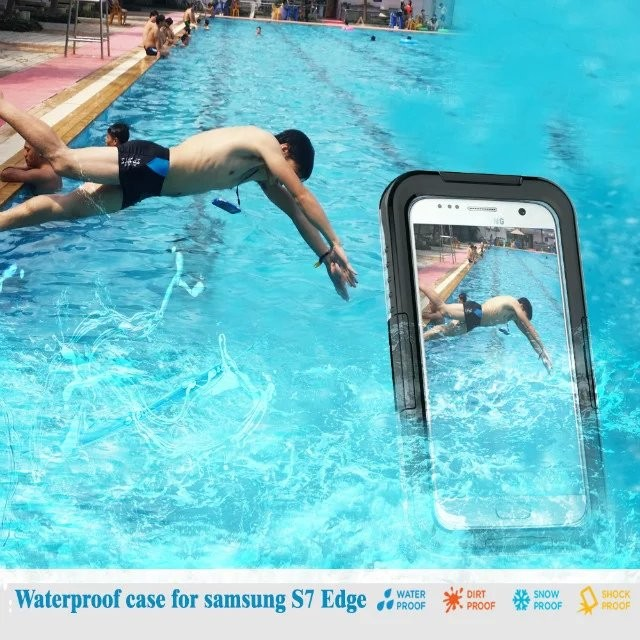 hot selling silicone PC waterproof phone Case for Samsung galaxy S7 edge