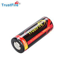 Lithium ion power safe battery TrusrFire 26650 best rechargeable battery, small rechargeable battery,3.7v li ion 26650 battery