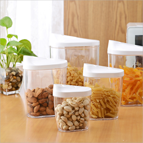 5 pcs PP plastic kitchen container box set/ clear plastic storage box with lid/home container for food storage sealing box