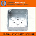 2014 HOT 4x4 Square galvanized electrical wall device box